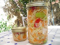 Haitian spicy Pikliz (pickles)... LOVE!!!  Haitian food is some of the tastiest food I ever eaten...