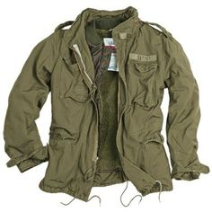 Surplus Vintage Style M65 Regiment Military Mens Warm Jacket & Liner Olive L: Amazon.co.uk: Clothing