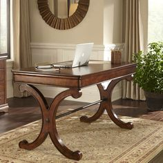 This home office configuration you can turn any spare corner into a small office. Wireless technology eliminates the need for cords and allow any space to be used for home office.