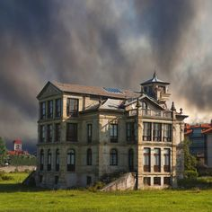 The palace or Villa Parres Partarríu, was completed in 1898 on behalf of José Piñera Parres Abandoned Buildings, Abandoned Places, Architecture Tumblr, Bay Of Biscay, Asturias Spain, Indiana, Balearic Islands, Urban Landscape, Beautiful Buildings