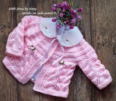 1000 Artes: Casaquinho Candy - trico para bebês