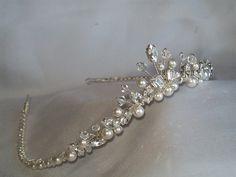 handmade swarovski wishbone wedding tiara  £60.00