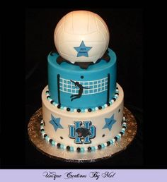 Does anyone have guidance or links they would be willing to share with making a volleyball cake. I am aiming for a realistic volleyball. I have the Wilton ball pan. Volleyball Birthday Cakes, Volleyball Cookies, Volleyball Cheers, Volleyball Party, 13 Birthday Cake, Birthday Cakes For Teens, Volleyball Practice, Volleyball Ideas, Volleyball Photography