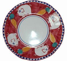 Vietri Campagna Porco (Pig) Dinner Plate
