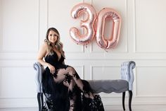 The best birthday photo shoot OC natural light studio 30th Birthday Dresses, 30th Birthday Themes, 30th Birthday Ideas For Women, Cute Birthday Pictures, Birthday Photos, Boudior Outfits, Indoor Birthday, Birthday Woman, Natural Light