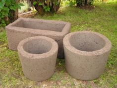 diy Hypertufa:  a mixture of Portland cement, sand and peat moss. If you want you can replace the sand with perlite, it makes the pots and trays a lot lighter as perlite weighs almost nothing. Tufan takes a little longer to harden than ordinary concrete.