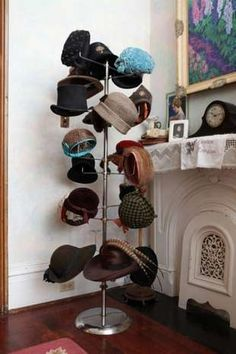 Vintage Hat Display. Might be good since we have so many different kinds of hats now...