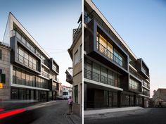 cubed apartment building (mixed-use residential building) by nuno ladeiro and marco martins | vila nova de tazem, portugal.