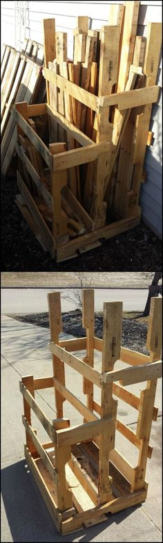 How To Build A Pallet And Loose Lumber Enclosure Tower  http://theownerbuildernetwork.co/fowu  Running out of storage space or just want to organize your scrap timber pile? This simple and inexpensive project might be the answer to your problem!