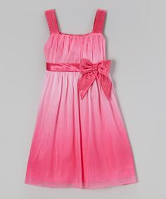 Take a look at the Pink Ombré Chiffon Dress - Girls on #zulily today!