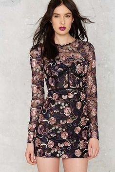 Nasty Gal Bangin' Bloom Mesh Dress - Sale: Newly Added | Sale: 20% Off | Cocktail Dresses | Dresses | Dresses