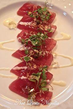 Tonijn sashimi met wasabi mayonaise?