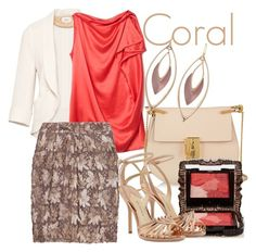 """Coral contest"" by auds78 ❤ liked on Polyvore featuring Wilfred, Lanvin, Chloé, Burberry, Anna Sui, Paul Andrew, Alexis Bittar, women's clothing, women and female"