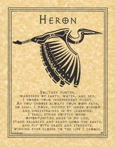 Spirit Totem Animals - Heron
