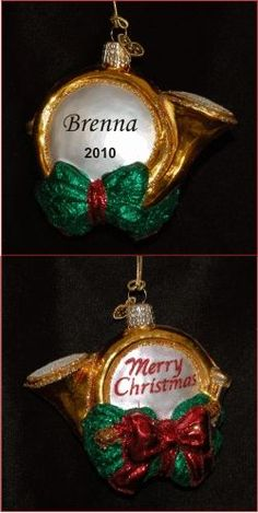 Holiday Horn - Personalized Holiday Ornament
