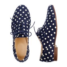 polka dot oxfords.