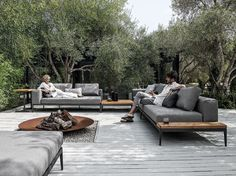 GRID ソファ Grid Outdoor Lounge コレクション by Gloster デザイン: Henrik Pedersen