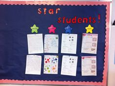 I'm linking up for yet another party! I just love the summer time! Hope you enjoy my bulletin boards! Motivational Bulletin Boards, Star Students, Just Love, Writing, Math, Blog, School Stuff, Teaching Ideas, September