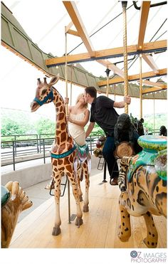 Engagement Photo. Cute ideas on a carousel.