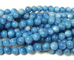 Mother of pearl light blue round beads (6mm, about 63 beads) at GIFTSJOY.COM