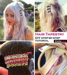 Hair tapestry DIY step-by-step tutorial