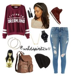 """Dreamland"" by wildspirit2611 ❤ liked on Polyvore featuring Wanderlust + Co, Phase 3, NIKE, Frame Denim, The Horse, H&M, Bobbi Brown Cosmetics and Nicki Minaj"