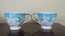 Dutch Wax Coastline Imports Butterfly Ceramic Mugs Cups Set of 2
