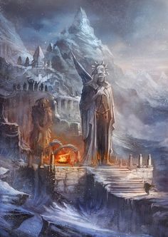 OSMADTH - Nordic Shrine by ~flaviobolla on deviantART join us http://pinterest.com/koztar/