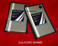 Nautica DUXBERRY 2-pc  European Euro Shams #Nautica