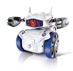 Clementoni Cyber Robot GERMAN / SPANISH / ENGLISH / ITALIAN versions 4 digital & interactive play modes Sound and light effects Bluetooth circuit board Digital and manual programming Interchangeable components Science Toys, Science And Technology, Smartphone, Cyber Robot, Electronic Cards, Bluetooth, Start Program, Robot Kits, Smart Robot