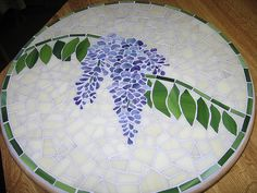 WISTERIA Lazy Susan, Stained Glass by mosaickid, via Flickr