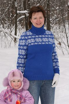 Ravelry: Project Gallery for Snowflake & Star Fair Isle Pullover pattern by Marion Graham