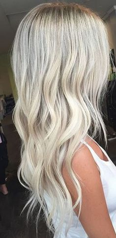 cool platinum baby blonde hair color