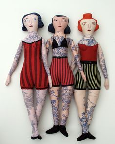 These dolls from Mimi Kirchner made me so happy. http://mimikirchner.com/blog/