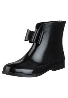 #Bottines en caoutchouc Even&Odd sur #Zalando // #bottes de #pluie #Printemps #noeuds