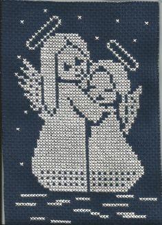 haft krzyżykowy - aniołki