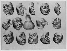 Honoré Daumier, Masks of 1831, 1832.