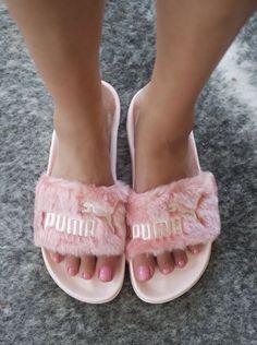 aca5a18b7479 Falls Hottest Shoe  Rihanna for Puma Fenty Fur Slide Furry Puma Slides