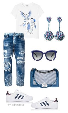"""Blue"" by aakiegera on Polyvore featuring мода, Chanel, adidas, Monki, Dsquared2, Grey Ant и Ricardo Rodriguez"