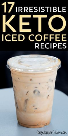 17 Super Delicious Keto Iced Coffee Drinks to Feed Your Iced Coffee Addiction Irresistible Keto Iced Coffee Recipes! I don't know about you, but I absolutely love iced coffee… all year round! Needless to. Desserts Keto, Keto Snacks, Easy Keto Dessert, Keto Sweet Snacks, Collagen Coffee, Keto Postres, Iced Coffee Drinks, Healthy Coffee Drinks, Iced Coffee Recipes