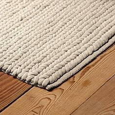 A nod to the nautical, this thick and textural rug has a durability that stands up to high-traffic areas. Each handwoven cotton rope has a polyester foam core to make sure it keeps its shape. And it feels really good underfoot | domino.com