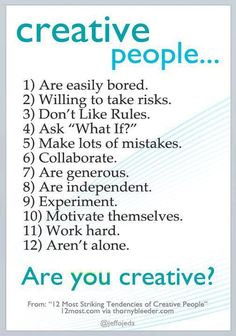 creative people...