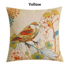 Bird pillow Rural pastoral style decorative pillows for couch