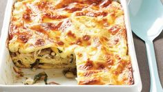 Chicken, Spinach, and Mushroom Lasagna – Skinny and Healthy