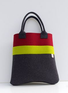 cf10c7cd04 Handmade Bag Felt Tote Burgundy and Gray Shopper Shopping Diy Bags Purses