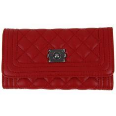 Prošívaná dámská peněženka DF030 červená