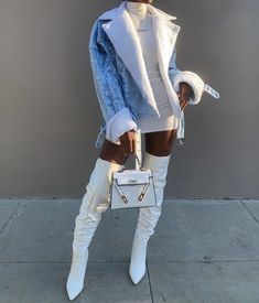 Shared by Xhoi. Find images and videos about fashion, outfits and ootd on We Heart It - the app to get lost in what you love. Boujee Outfits, Dope Outfits, Classy Outfits, Stylish Outfits, Fall Outfits, Black Girl Fashion, Look Fashion, 80s Fashion, Chubby Fashion