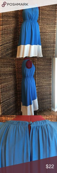 Loft hi-low dress Gorgeous on; nice and airy with a lot of forgiveness. Elastic waist. LOFT Dresses High Low