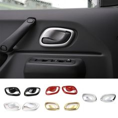 Find More Stickers Information about 5 Colors Gold/Silver/Red/Black/Matt ABS Interior Handle Bowl Cover Trim 2 PCS/Set for Suzuki Jimny with High Quality,High Quality Stickers from Mopai Auto Accessories on Aliexpress.com