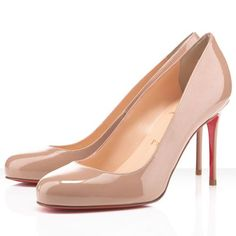 Christian Louboutin Fifi 85mm Patent Leather Pumps Nude